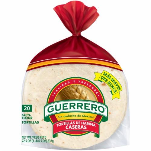 Guerrero® Tortillas de Harina Caseras Fajita Flour Tortillas 20 Count Perspective: front