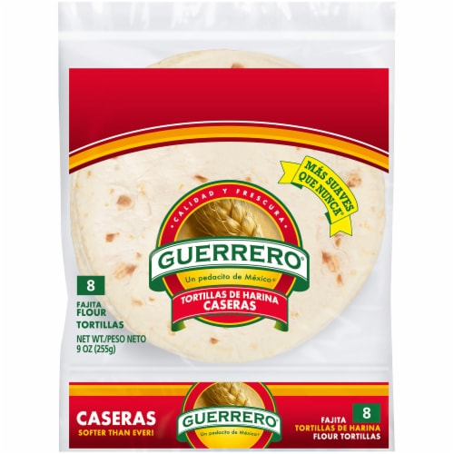 Guerrero Caseras Fajita Flour Tortillas 8 Count 9 Oz King Soopers