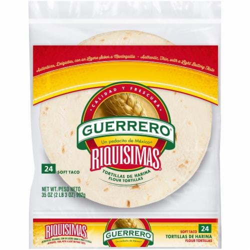 Guerrero Riquisimas Soft Taco Flour Tortillas Perspective: front