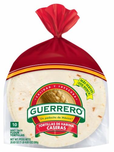 Guerrero Caseras Soft Taco Flour Tortillas Perspective: front