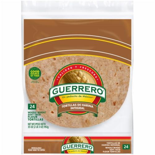 Guerrero Triguenas Whole Wheat Soft Taco Flour Tortillas 24 Count Perspective: front