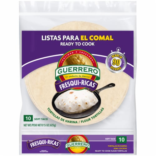 King Soopers Guerrero Fresqui Ricas Flour Tortillas 10 Count 15 Oz