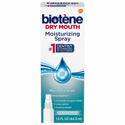 Biotene Dry Mouth Gentle Mint Moisturizing Mouth Spray Perspective: front