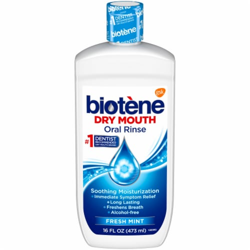 Biotene Fresh Mint Dry Mouth Oral Rinse Perspective: front