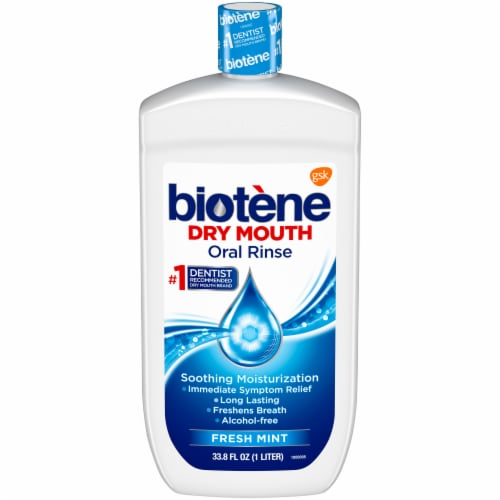 Biotene Dry Mouth Fresh Mint Oral Rinse Perspective: front