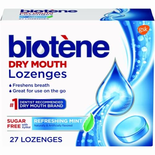 Biotene Refreshing Mint Lozenges Perspective: front