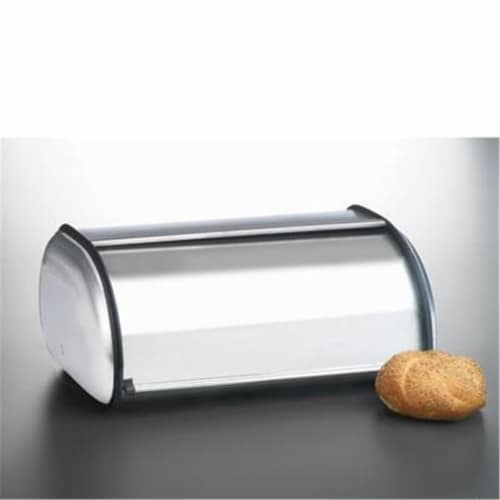 Anchor Hocking 08994MR Brushed Steel Bread Box Euro Perspective: front