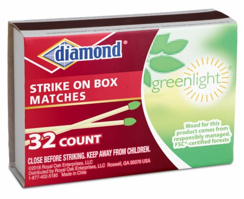 Diamond Greenlight Strike Anywhere Matches Perspective: front