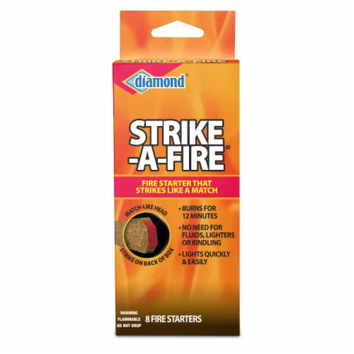 Diamond Strike-a-Fire Starter Matches Perspective: front