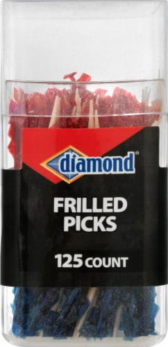Diamond Frilled Picks 125 Count Perspective: front