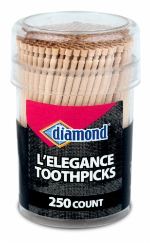 Diamond® L'Elegance Picks 250 Count Perspective: front