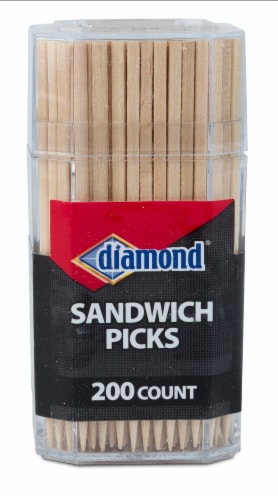 Diamond Sandwich Toothpicks Perspective: front