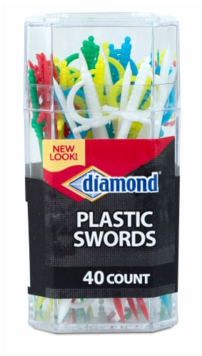 Diamond Plastic Swords Perspective: front