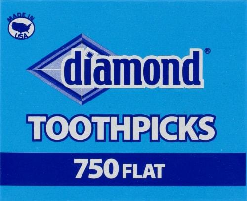 Diamond Flat Toothpicks Perspective: front