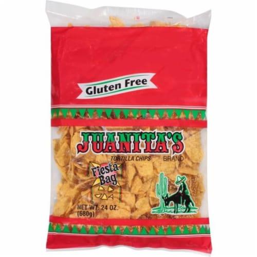 Juanitas Fiesta Bag Tortilla Chips Perspective: front