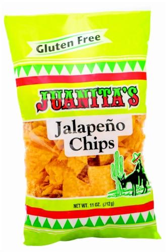 Juanitas Gluten Free Jalapeno Tortilla Chips Perspective: front