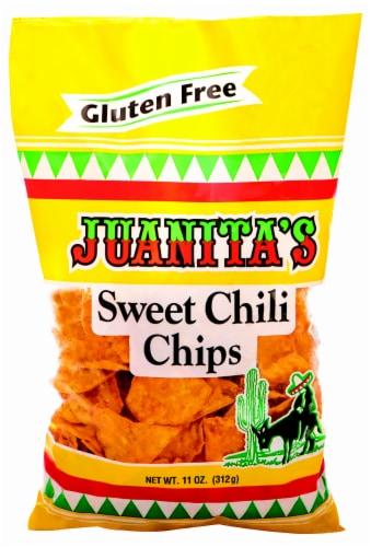 Juanitas Gluten Free Sweet Chili Tortilla Chips Perspective: front