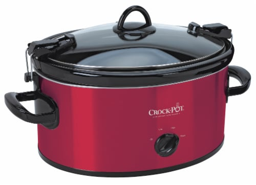 Crock-Pot® Cook & Carry Portable Slow Cooker - Red Perspective: front