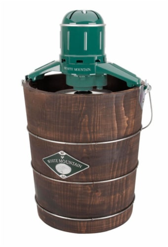 White Mountain Brown 4 qt. Ice Cream Maker 13.5 in. H x 20.8 in. W x 13.3 in. L - Case Of: 1; Perspective: front