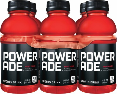 Powerade Fruit Punch Flavored Sports Drink Perspective: front