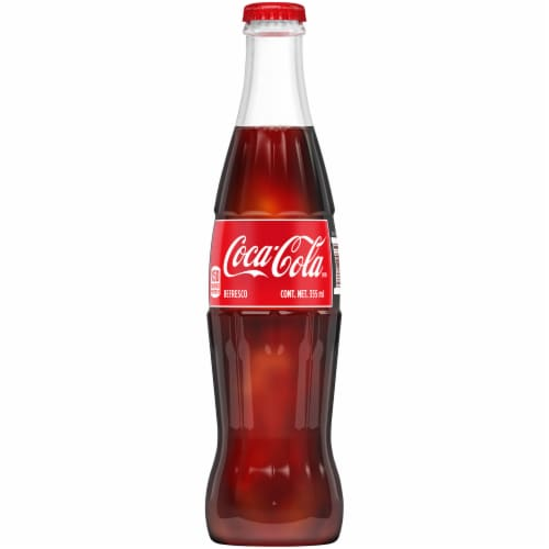 Coca-Cola Glass Bottle Soda Perspective: front