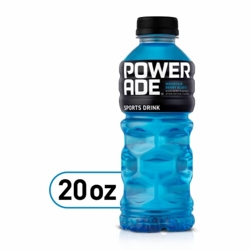 POWERADE Mountain Berry Blast Electrolyte Enhanced Sports Drink Perspective: front
