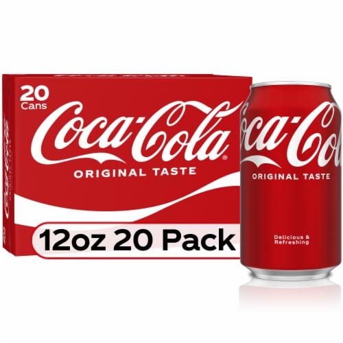 Coca-Cola Soda 20 Cans Perspective: front