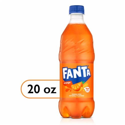 Fanta Orange Flavored Soda Perspective: front