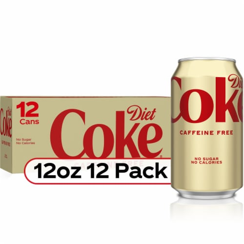 Diet Coke Caffeine Free Cola Soda 12 Cans Perspective: front