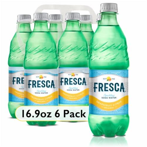 Fresca Grapefruit Citrus Sparking Soda Water Perspective: front