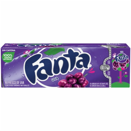 Fanta Grape Flavored Soda Perspective: front