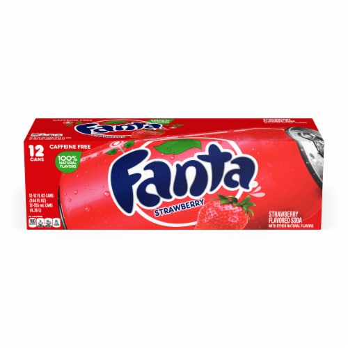 Fanta Strawberry Flavored Soda Perspective: front