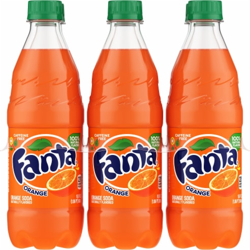 Fanta Orange Soda Perspective: front