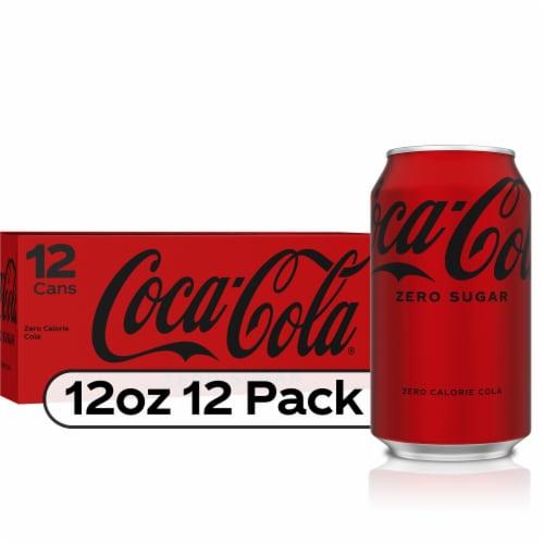 Coca-Cola Zero Sugar Cola Soda Perspective: front