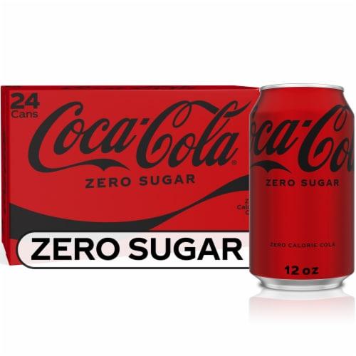 Coca-Cola Zero Sugar Soda Perspective: front