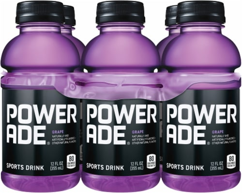 Powerade Grape Flavored Sports Drink Perspective: front