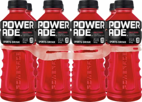 Powerade Fruit Punch Electrolyte Enhanced Sports Drink Perspective: front
