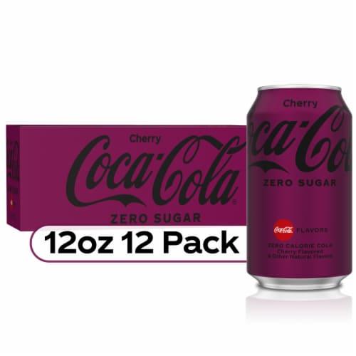 Coca-Cola Cherry Zero Sugar Soda Perspective: front