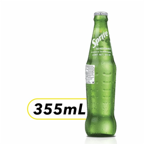 Sprite Mexico Glass Bottle Soda Perspective: front