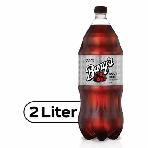 Barq's Root Beer Soda Perspective: front