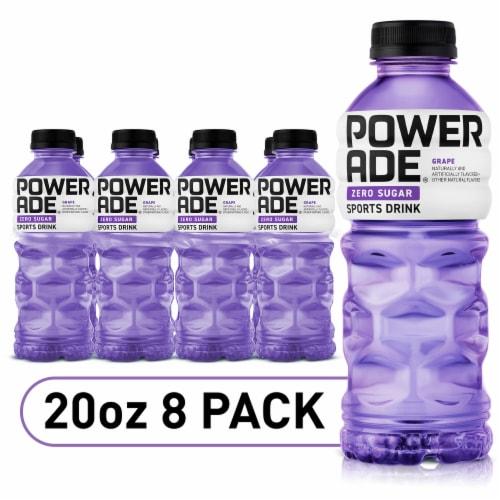 Powerade Zero Sugar Grape Electrolyte Enhanced Sports Drinks Perspective: front