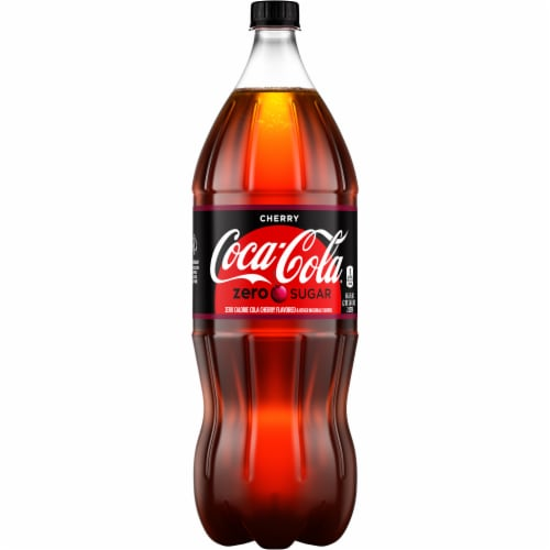 Coca-Cola Cherry Zero Sugar Soda Perspective: front
