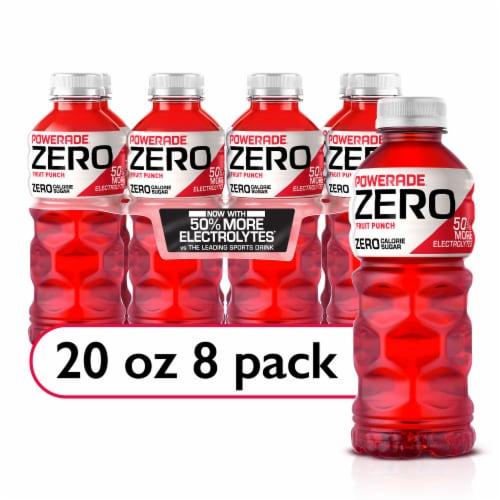 Powerade ZERO Fruit Punch Sports Drink Bottles Perspective: front