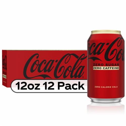 Coca-Cola Zero Sugar Caffeine-Free Soda Perspective: front