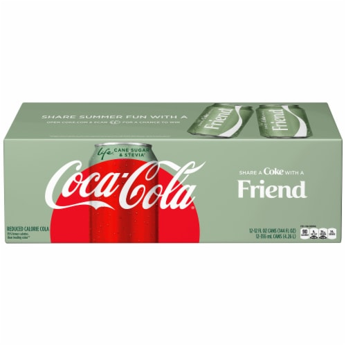Coca-Cola Life Reduced-Calorie Soda with Stevia Perspective: front