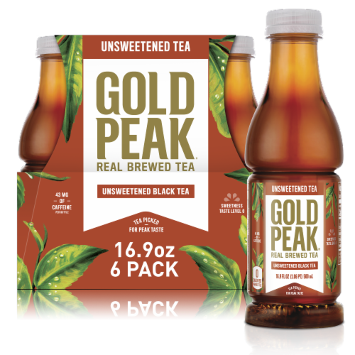 Gold Peak Unsweetened Black Tea Beverage Perspective: front