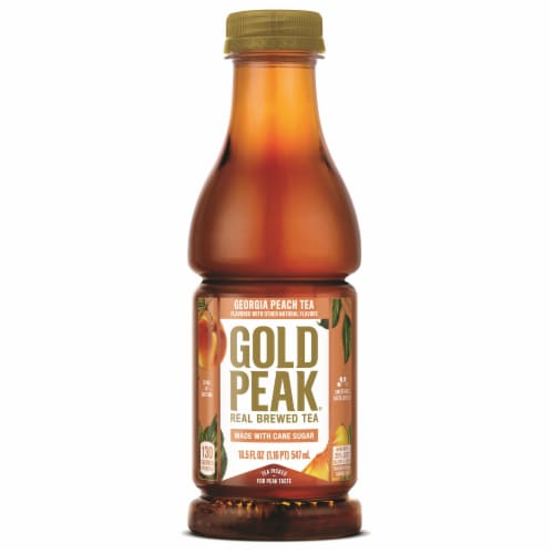 Gold Peak Georgia Peach Tea Beverage Perspective: front