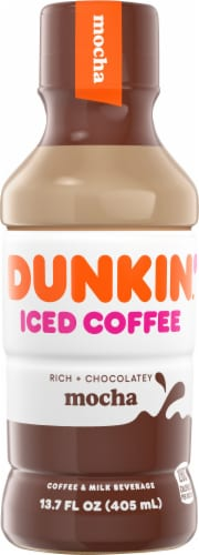 Dunkin' Donuts Mocha Iced Coffee Perspective: front
