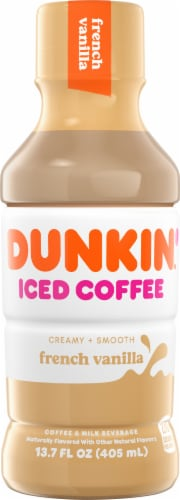 Dunkin' Donuts French Vanilla Iced Coffee Perspective: front