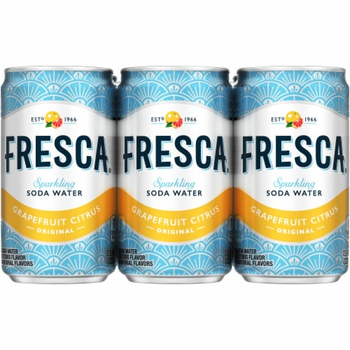 Fresca Original Grapefruit Citrus Sparkling Flavored Soda Perspective: front